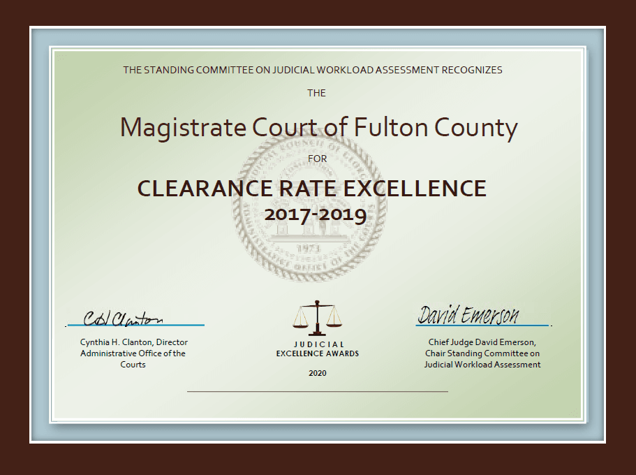 Clearance Rate Excellence Award